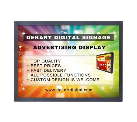 19 inch Commercial advertising display DIPANEL-1850-BLK