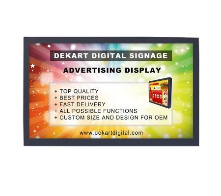 22 inch vandal-proof Digital signage advertising display DIPANEL-2150-BLK