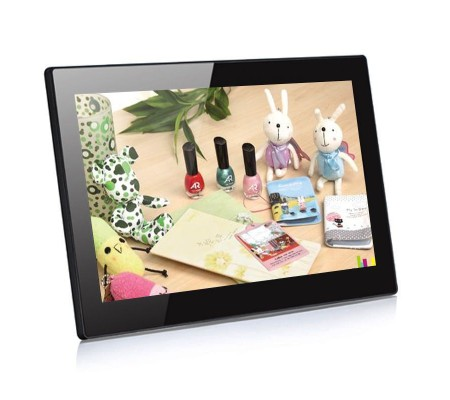 12 inch 16:9 Digital signage screen for advertising DISHINE-1201-BLK