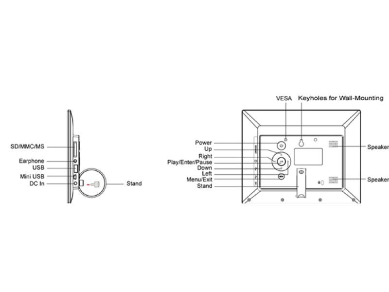 digitale werbe bilderrahmen 8 zoll sqframe 080. Black Bedroom Furniture Sets. Home Design Ideas