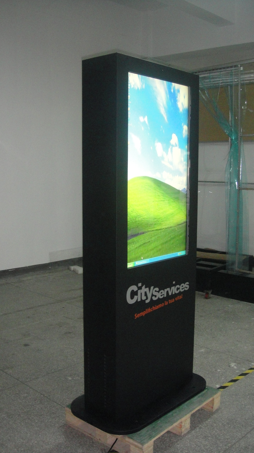 Outdoor digital signage poster