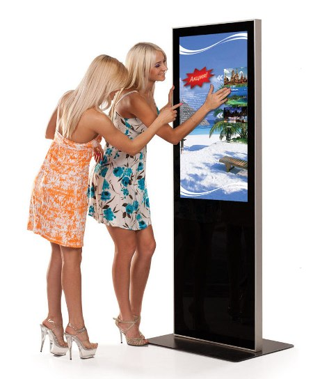 Touchscreen electronic poster